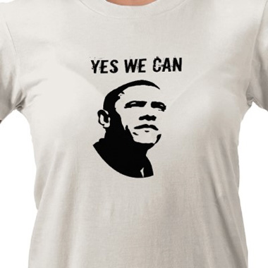 Obama t-shirt - YES WE CAN - U.S.A. FLAG